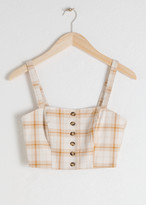 And other stories Plaid Cotton Blend Corset Top