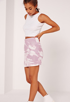 Missguided Petite Exclusive Marble Print Mini Skirt Pink