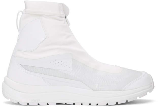 Boris Bidjan Saberi White Salomon Edition Bamba 2 High-Top Sneakers