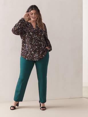 Petite, Straight Leg Solid Pant - Addition Elle