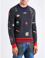 Gucci Embroidered Wool Jumper