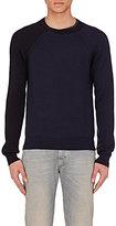 Maison Margiela Men's Reconstructed Cotton-Wool Sweater-NAVY