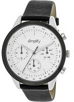 Simplify The 3800 Collection SIM3801 Unisex Watch with Leather Strap