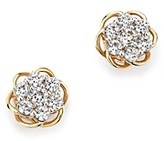 Bloomingdale's Diamond Flower Stud Earrings in 14K Yellow and White Gold, .50 ct. t.w. - 100% Exclusive