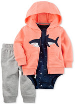 Carter's 3-Pc. Shark Hoodie, Bodysuit & Pull-On Pants Set, Baby Boys (0-24 months)
