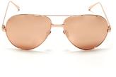 Linda Farrow Luxe 24k Rose Gold Sunglasses