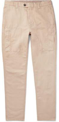 Brunello Cucinelli Linen And Cotton-Blend Trousers