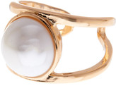Stephan & Co Large Simulated Pearl Front Ring