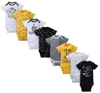 Gerber Baby Boy Assorted Short Sleeve Onesies Bodysuits, 8-Pack