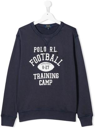 Ralph Lauren Kids TEEN football print sweater