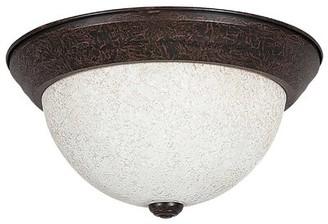 "Ozan 2 - Light Simple Bowl Flush Mount Fleur De Lis Living Size: 6"" H x 11"" W x 11"" D, Shade Type: Turismo"