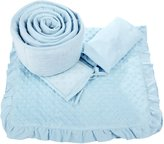 American Baby Company Heavenly Soft 3 pc Minky Dot Cradle Set - Blue
