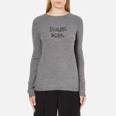 Bella Freud Women's Political Merino Wool Jumper Grey
