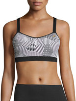Brooks UpRise Crossback Sports Bra (A/B), Black/White