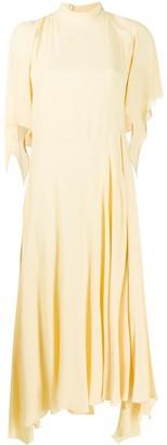 Erika Cavallini Short-Sleeve Flared Midi Dress