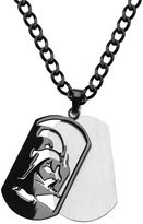 Star Wars FINE JEWELRY Darth Vader Mens Stainless Steel & Black IP Layered Dog Tag Pendant