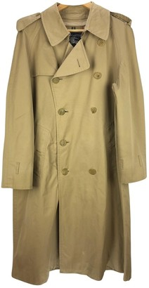 Burberry Brown Cotton Trench Coat for Women Vintage