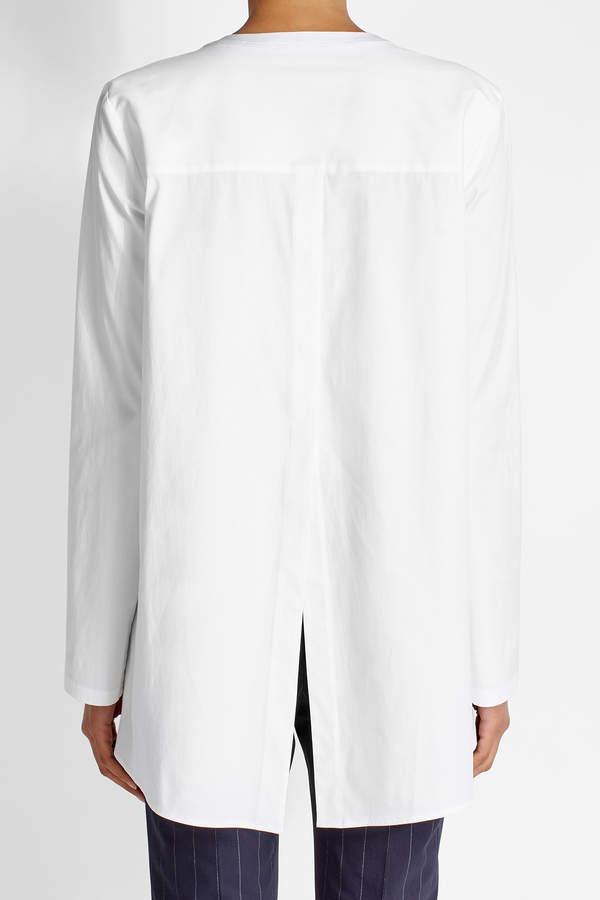 Theory Cotton Tunic Blouse