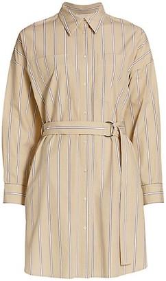 3.1 Phillip Lim Belted Stripe Cotton Shirtdress