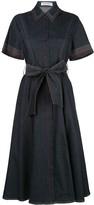 Prabal Gurung contrast-stitching denim shirt dress