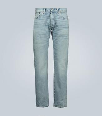 Ralph Lauren RRL Slim-fit light wash selvedge jeans