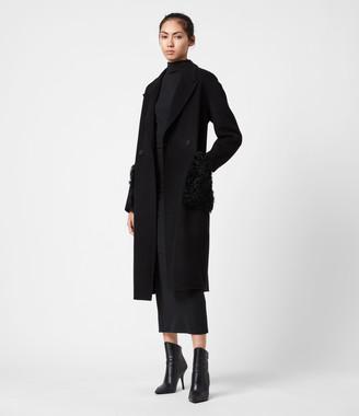 AllSaints Maddie Wool Blend Coat