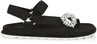 Roger Vivier Trekky Viv Strass Sport Sandals