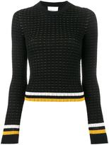 3.1 Phillip Lim contrast stripe jumper - women - Cotton/Spandex/Elastane - L