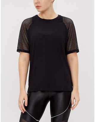 Koral Koan mesh-sleeve stretch-jersey T-shirt