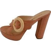 Prada Pink Leather Sandals