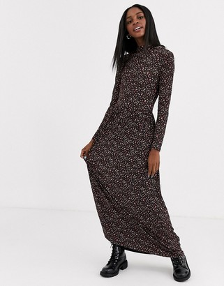 JDY ditsy print maxi dress