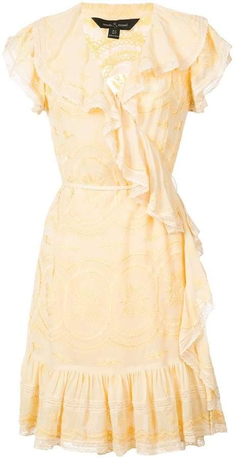 Needle & Thread ruffled wrap dress