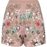 River Island Womens Pink floral sequin embellished shorts