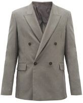 The Row Shane Double-breasted Wool-twill Suit Jacket - Mens - Dark Grey