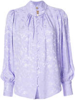 Maison Mayle floral embossed blouse