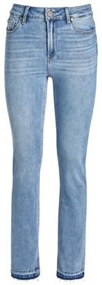 Paige Split-Hem Straight Cindy Jeans