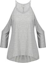 Haute Hippie Cold-shoulder modal-jersey top