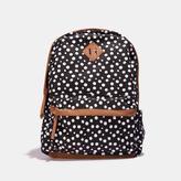 TWIG & ARROW Polka Dot Pattern Backpack