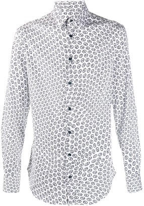 Giorgio Armani All-Over Logo Print Shirt
