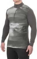 Helly Hansen Graphic Base Layer Top - Merino Wool, Zip Neck, Long Sleeve (For Men)