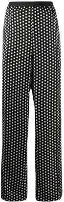 Plan C Polka Dot Print Wide-Leg Trousers