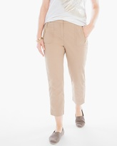 Chico's Paige Washed Zip-Pocket Crop Pants