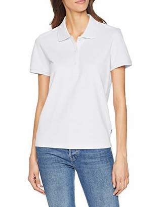 Wrangler Women's Pique Polo T-Shirt, (White 412), X-Large