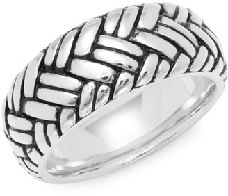 Effy Sterling Silver Weave Band Ring