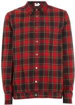 Topman Men's Long Sleeve Red Check Overshirt