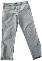 Tommy Hilfiger Beige Cotton Trousers for Women