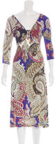 Just Cavalli Printed Embellished Dress
