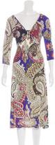 Just Cavalli Printed Embellished Dress