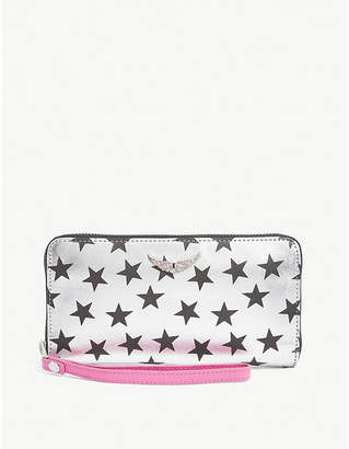 Zadig & Voltaire Compagnon star-print leather wallet