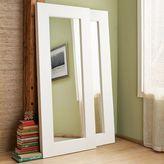 west elm Chunky Wood Floor Mirror - White